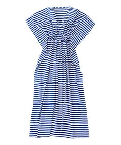 Look at this #zulilyfind! Blue & White Stripe Laguna Maxi Dress #zulilyfinds