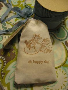 Oh Happy Day Wedding Favor Bag With Wedding Mice by PrinceSnowFarm, $1.75