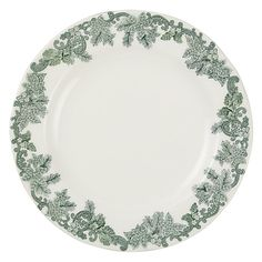 Buy Spode Ruskin House 'Wreath' 20cm Plate, White / Green Online at johnlewis.com