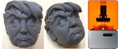 Printed Model of Donald J. Trump Made into a Collectible Toy that you can Squeeze 3d Prints, Love Him, Hate, Printing, Toy, Canning, Model, Collection