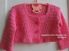 Magia do Crochet: Casaco em crochet para menina