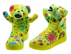 adidas Originals by Jeremy Scott JS Bear 'Flower Power' Flower Power, Adidas Originals, Koi, Jeremy Scott Adidas, Panda, Baskets, Cute Bear, Hippie Style Clothing, Popular Sneakers