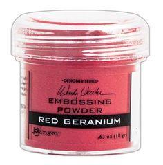 Ranger Ink - Wendy Vecchi - Embossing Powder - Red Geranium at Scrapbook.com