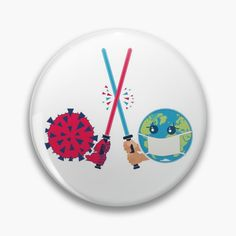 'Battle for the Earth' Pin Button by hitpointer Order Prints, Battle, My Arts, Earth, Art Prints, Printed, Awesome, Products, Art Impressions