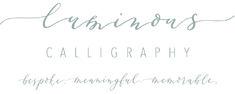 Luminous Calligraphy Logo Calligraphy Logo, Logos, Logo, A Logo