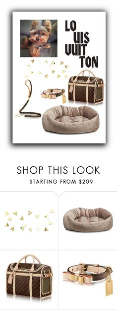 """""""Louis vuitton dog wear😍"""" by malibu-pup ❤ liked on Polyvore featuring Jax and Bones and Louis Vuitton"""