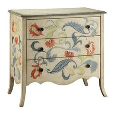 The Stein World Painted Treasures 3 Drawer Accent Chest is perfect for a cottage/country home. The accent chest is made from MDF and veneer and stays strong for years to come. It is further completed Hand Painted Furniture, Funky Furniture, Furniture Makeover, Living Room Furniture, Furniture Outlet, Online Furniture, Chest Furniture, Furniture Removal, Furniture Stores