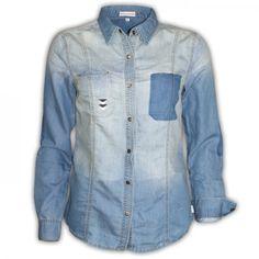 Bluse 1/1 FESTIVAL BLUES von Billabong     #jeans #bluse #jeansshirt #jeansbluse #denim