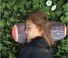 Log Pillow Head Rest by Living Royal