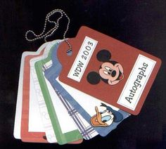 Doing this for Disney.  Character autographs can be removed and placed in a scrapbook later.