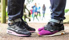 Nike Air Max 1 Powerwall 'Morning Glory' V.S. Solebox X New Balance 'Purple Devil'