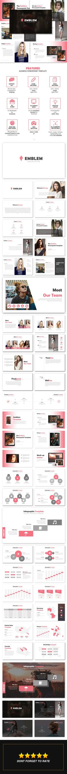 Emblem - Business Powerpoint Template - Business #PowerPoint Templates