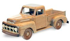Shop for the 1951 Ford Pickup Woodworking Pattern (approx. Woodworking Basics, Woodworking Box, Woodworking Patterns, Woodworking Projects, Woodworking Organization, Woodworking Furniture, Wooden Toy Trucks, Wooden Toys, Wood Car