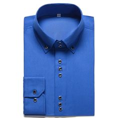 New Fashion Casual Shirt Men Long Sleeve Slim Fit Man's Casual Button-Down Shirt Formal Dress Shirts Men Clothes Camisa Wine Red Dress, Red Shirt Dress, Slim Fit Dress Shirts, Slim Fit Dresses, Fitted Dress Shirts, Men Dress, Formal Shirts, Casual Shirts For Men, Men Casual
