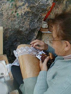 Bizzilla tac-combini - Maltese handmade lace #Malta #lace #crafts