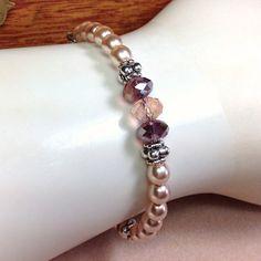 Swarovski Glass Pearl Bracelet Beige Pearl by JewelryCharmers, $20.00
