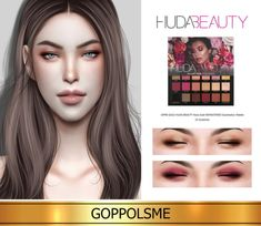 Rose Gold REMASTERED Eyeshadow Palette by GOPPOLS Me for The Sims 4