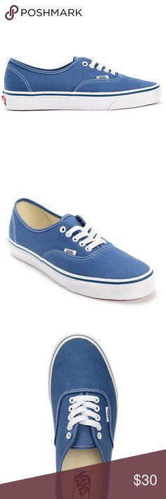 Vans Authentic Navy Canvas Skate Shoes  Men s Sz 8 Women s Sz 9.5   New 1ad07e825