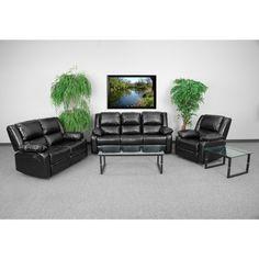 Flash Furniture Harmony Series Leather Reclining Sofa Set - BT-70597-RLS-SET-GG