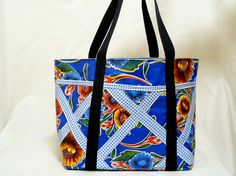 MANY POCKETS  LINED Purse/Tote Bag  Beautiful by MXwomensHope, $26.00