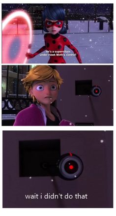 Remember how Adrien said in origins his father didn't have a sense of humor, well he has a little bit; he made a joke about being the Easter Bunny. And that is funny!!