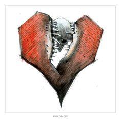 "Derek Hess ""Full Of Love"" Prints at https://www.indiemerch.com/derekhess/"