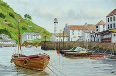 Polperro Harbour...John Melhuish...The Art Colony