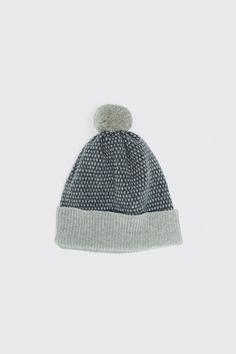 "8da1f82285f Hats – Hilary Grant POM HAT ""TIVOLI"" WOLF GREY + NORTH SEA £56"