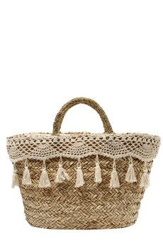 Bolso capazo con croché Diez Lunas Ibiza http://www.elarmariodelatele.com/armario/diez-lunas-ibiza/bolso-capazo-con-croche/12625