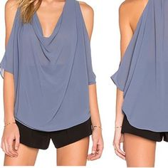 Cold shoulder top Fits true to size to big. Sheer. Never worn. All sales final. No trades. Bishop & Young Tops