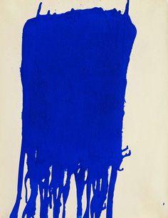Blue, 1960 Yves Klein http://decdesignecasa.blogspot.it
