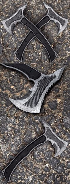 Havoc Works Havochawk Custom Axe Hatchet - Custom Knives by Channing Watson Cool Knives, Knives And Tools, Knives And Swords, Tactical Knives, Tactical Gear, Beil, Battle Axe, Cold Steel, Custom Knives