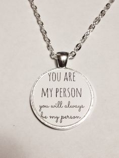 You Are My Person Quote Best Friend BFF Necklace (10.00 USD) by HeavenlyCharmed