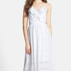 NWT Betsey Johnson White Halter Maxi Dress Size 6 New Betsey Johnson Long white summer halter dress. Turn heads this summer in this sexy stylish maxi dress. Perfect for a night out or a day at the beach. Size 6, 100% Cotton Betsey Johnson Dresses Maxi