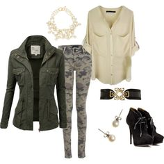 """Fall Fashion Camo Craze 2013"" by nunertuner on Polyvore"
