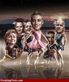 Democrat Politicians in Swan Lake Ballet