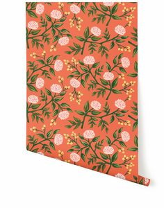Peonies (Persimmon) wallpaper Rifle Paper Co.