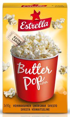 Estrella Micro Pop 3-pack Butter 270g Dairy, Packing, Butter, Cheese, Pop, Bag Packaging, Popular, Pop Music, Butter Cheese