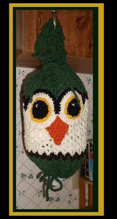 Mister Owl Crochet Plastic Bag Holder / Dispenser ~ no pattern
