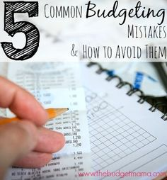 Keeping up with your budget is one of the most important things that you can do for your household. Not fearing the end of the month, not living paycheck to paycheck and knowing where your money is actually going is true financial freedom! Don't make these mistakes. http://www.higherearnings4you.com/