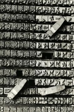 Type case of a Japanese typewriter, with hundreds of characters, 1938.