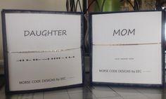 MOM / DAUGHTER Morse Code Bracelets Set of by ErinElizabethCarson