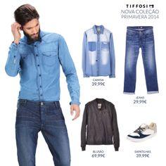 Sugestão Total Look para o Dia do Pai #tiffosi #tiffosidenim #newcollection #novacoleção #denim #primavera #spring #newin #man #diadopai  Jeans http://bit.ly/1lP2XzY Camisa http://bit.ly/1kHNCRi Blusão http://bit.ly/1oFTKaj Sapatilhas http://bit.ly/1kbpELN  Aproveita a Campanha Dia do Pai - sabe mais aqui: http://on.fb.me/1cuCpks
