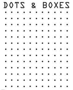 Remember the dot game? Print out this sheet of dotted