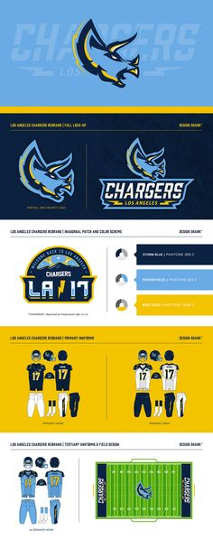 LA Chargers by Dan Blessing