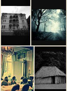 Pin 3: Hier zie je afbeeldingen die Tim Bowler beschrijft in zijn verhaal.  Het verhaal speelt zich af op meerdere plekken: in de straat de Lijsterbes, het hotel waar het gezin van Maja verblijft, in de eetkamer van het hotel, het hutje in het bos, Maja's slaapkamer, de tuin van het hotel en in het bos.