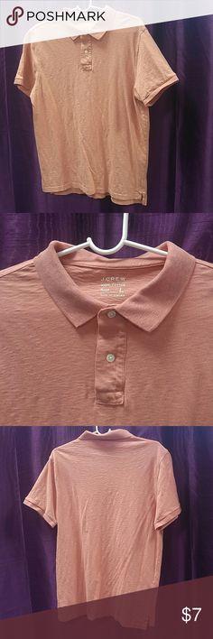 J. Crew Mens Large polo collar shirt Ultra soft 100% cotton shirt. Warm color. J. Crew Shirts