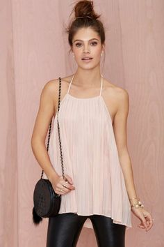 Nasty Gal If You Pleat Halter Top - Tanks   Tops   Clothes   All   Going Out Sale  