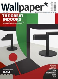 Cover of the Wallpaper with a reference to Italy.