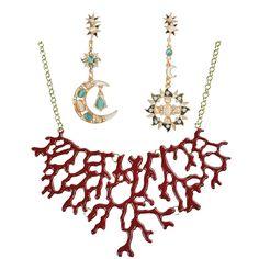 Jane Stone Combinaison Vente Bijoux Collier Plastron Statement Paire de Clous d'Oreilles Pendante Fantaisie: Amazon.fr: Bijoux